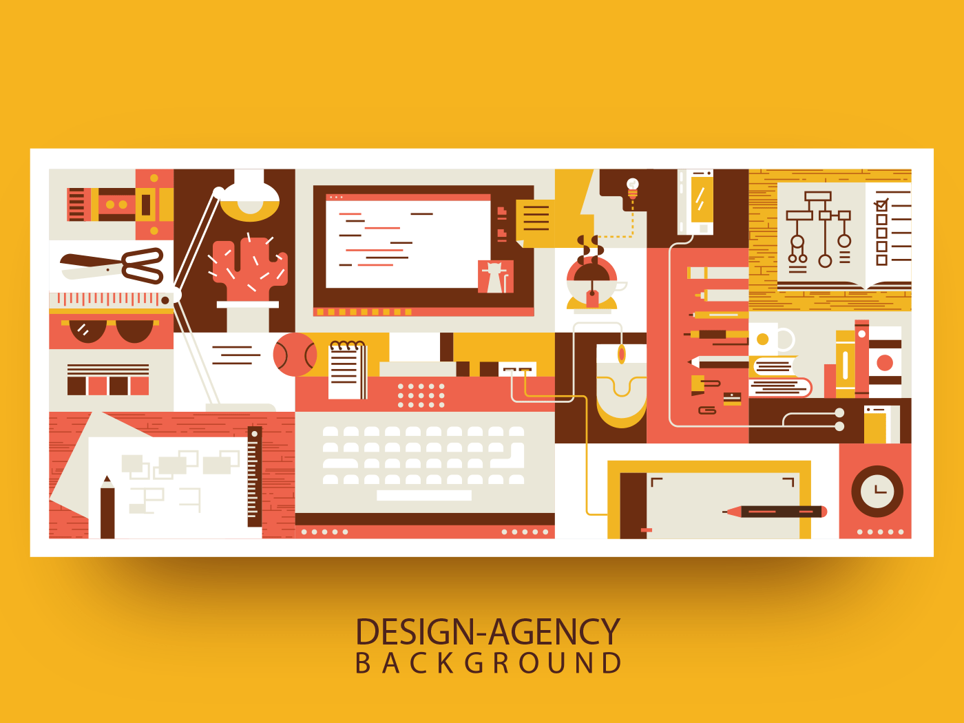 Abstract workspace design background