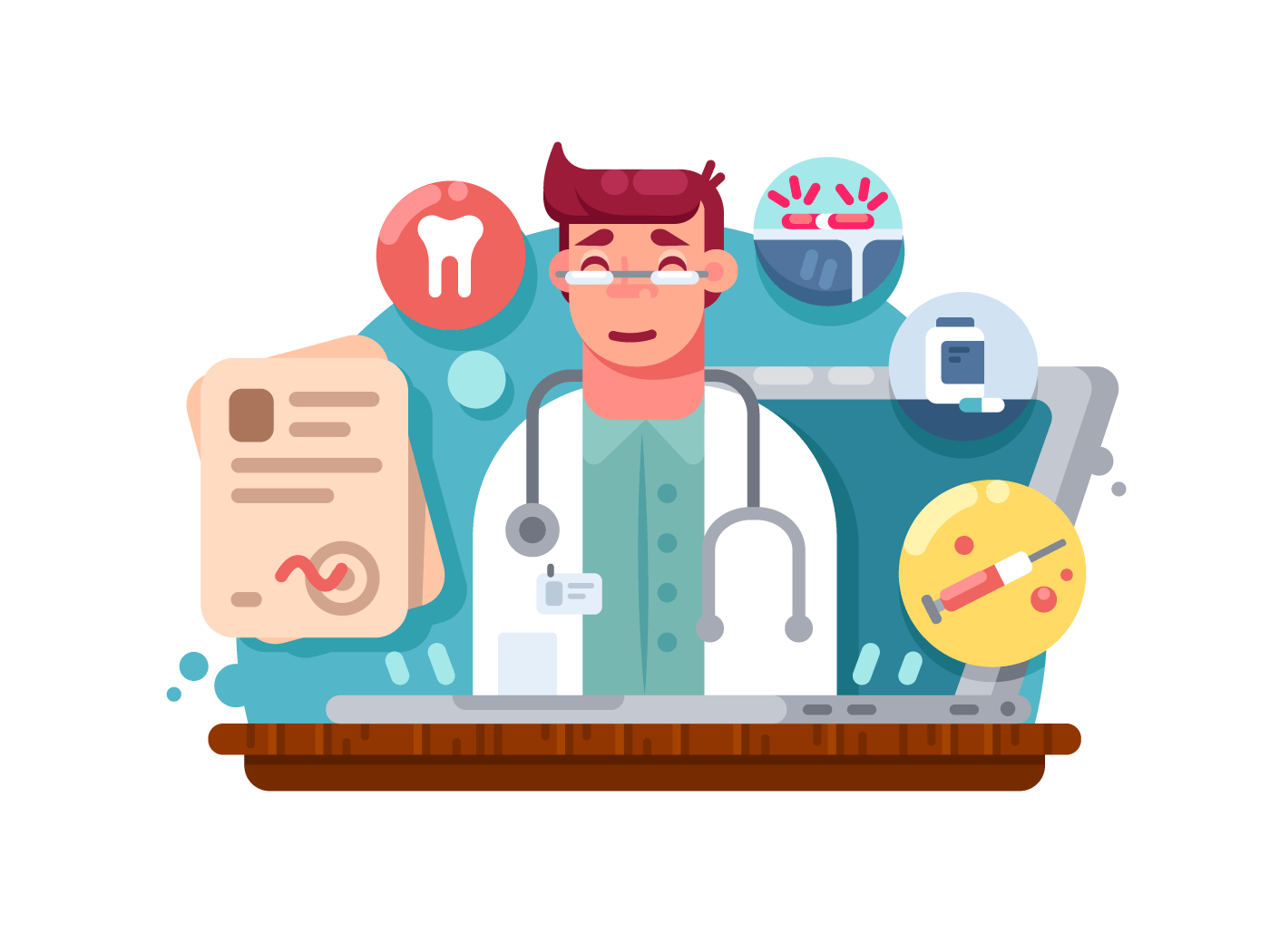 Service online doctor illustration