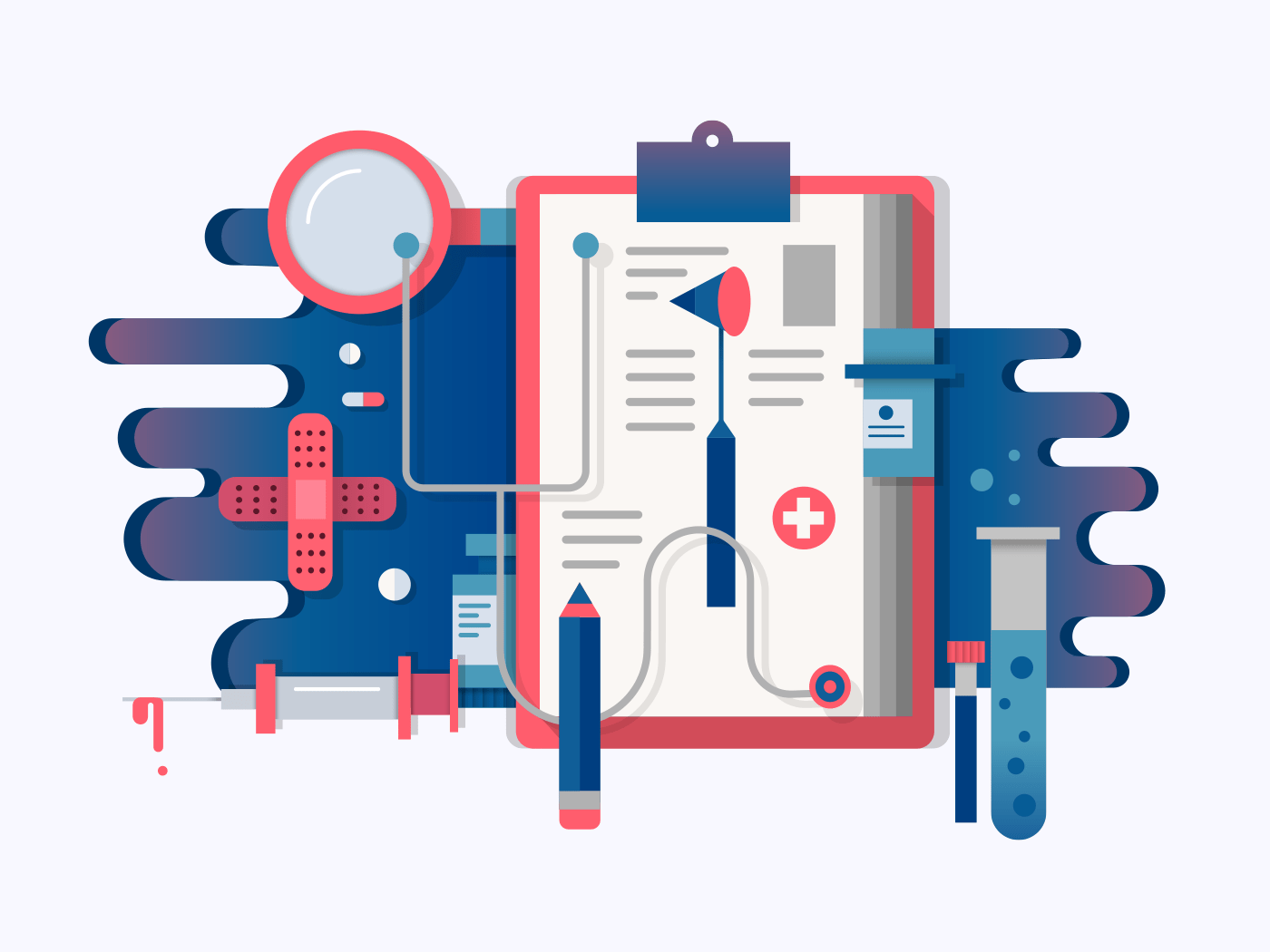 Doctor tools illustration