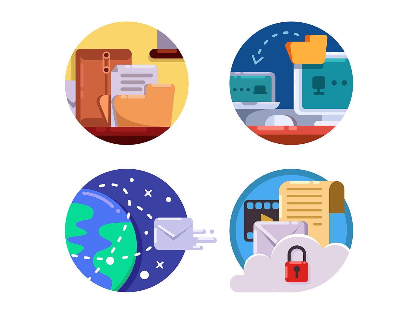 Documentation and document management icons