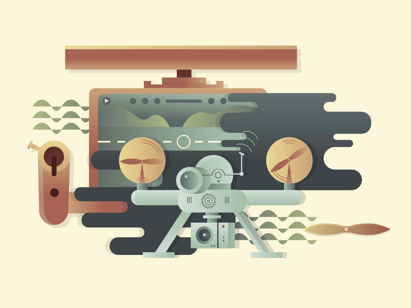 Quadrocopters illustration