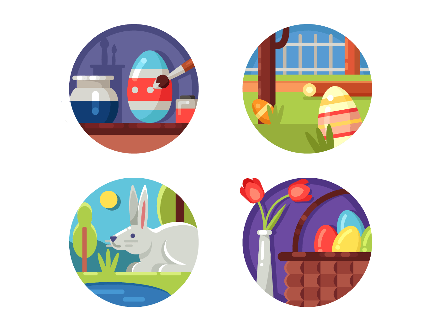Easter set icons