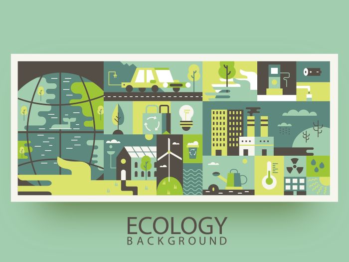 Ecology design abstract background