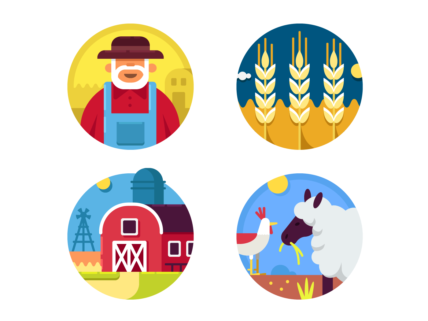 Farming set icons