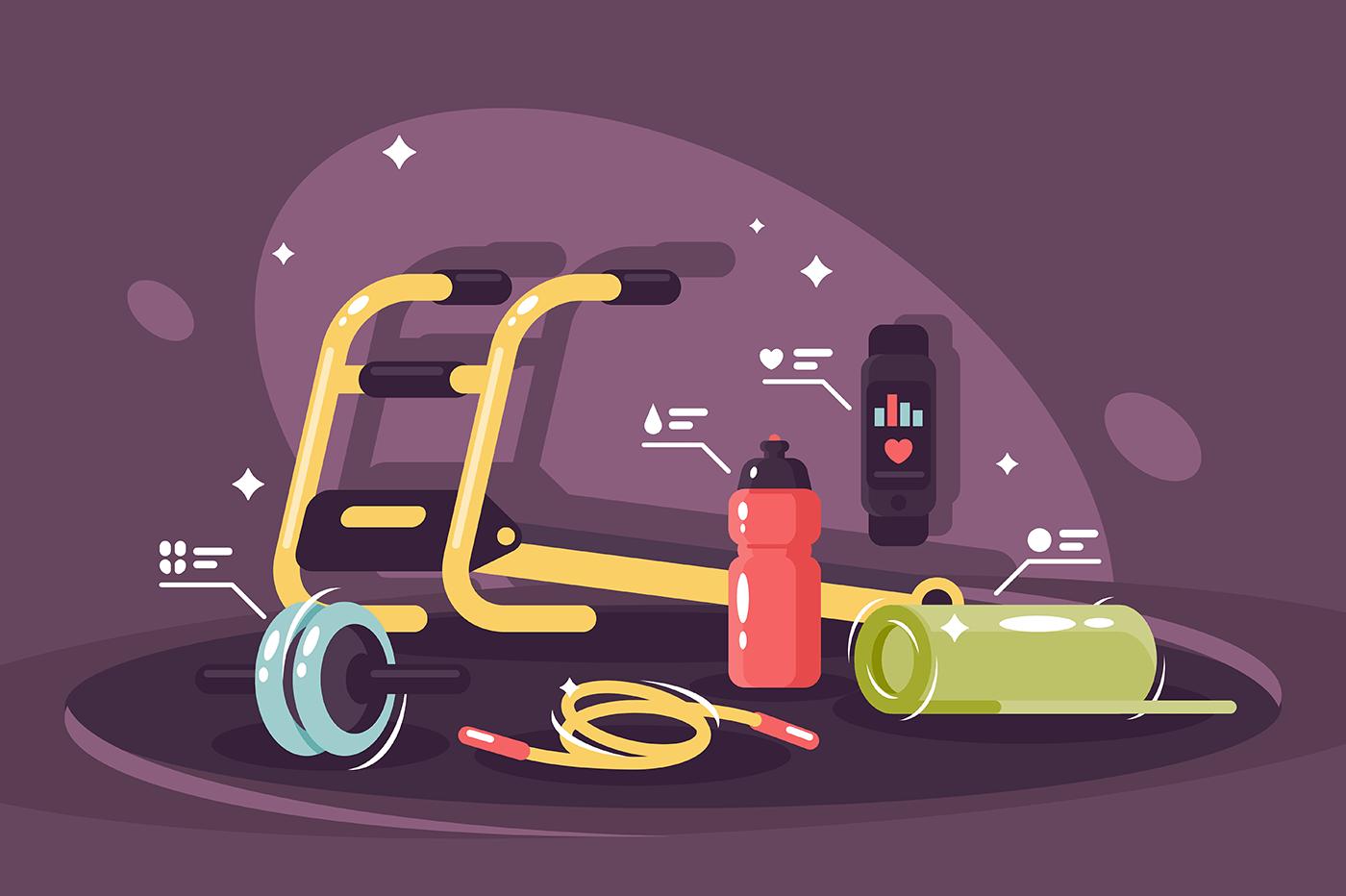 Standard equipment fitness club.