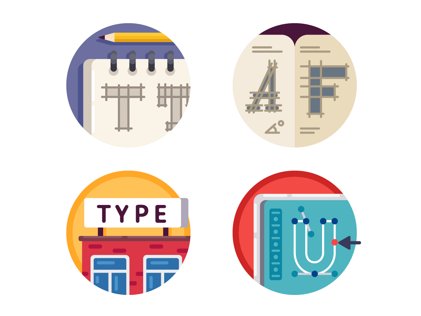 Type font pixel perfect icons