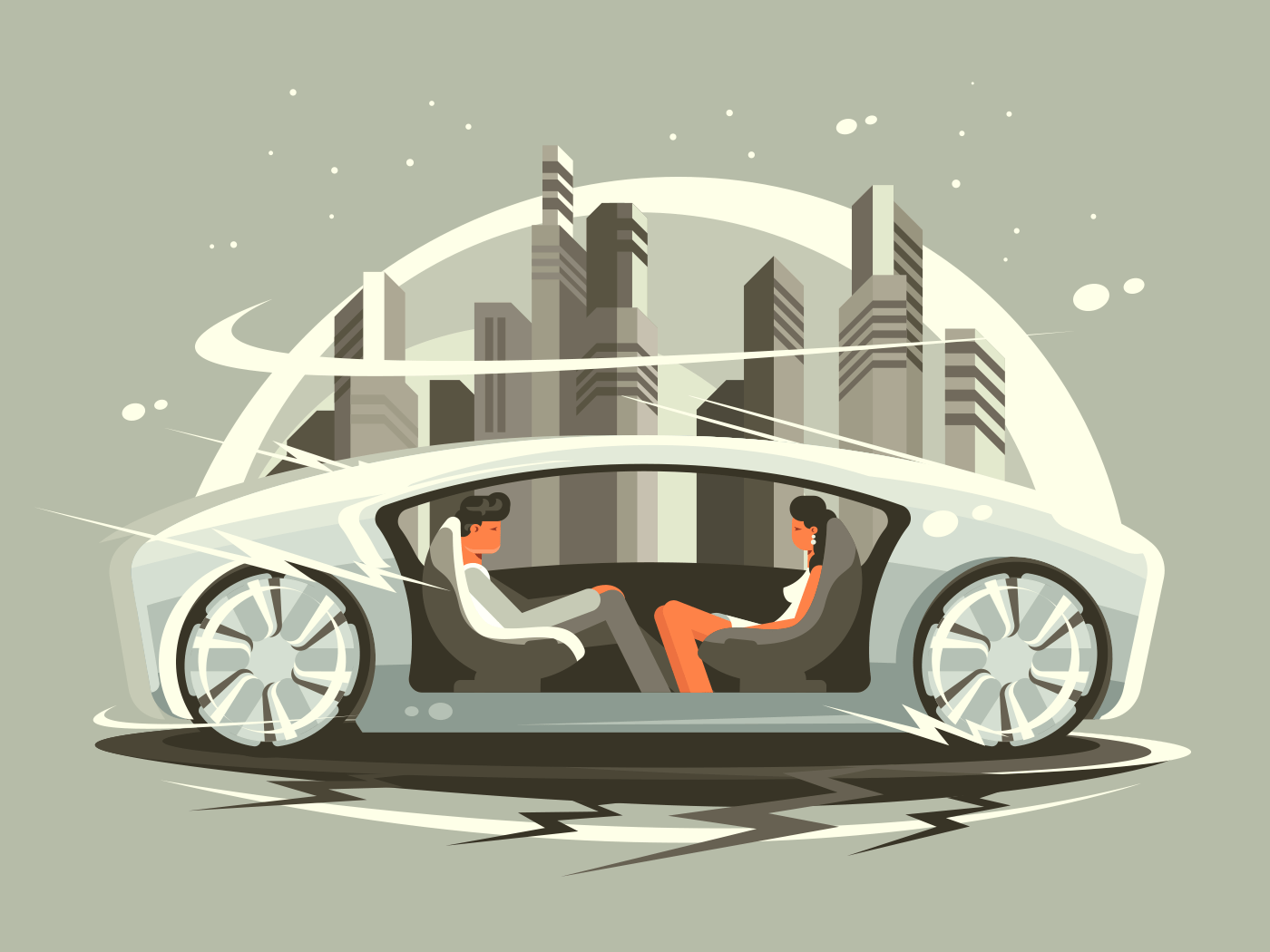 Car of future illustration