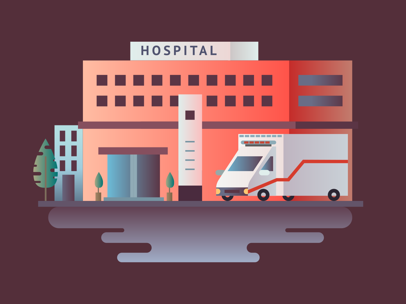 Hospital building illustration