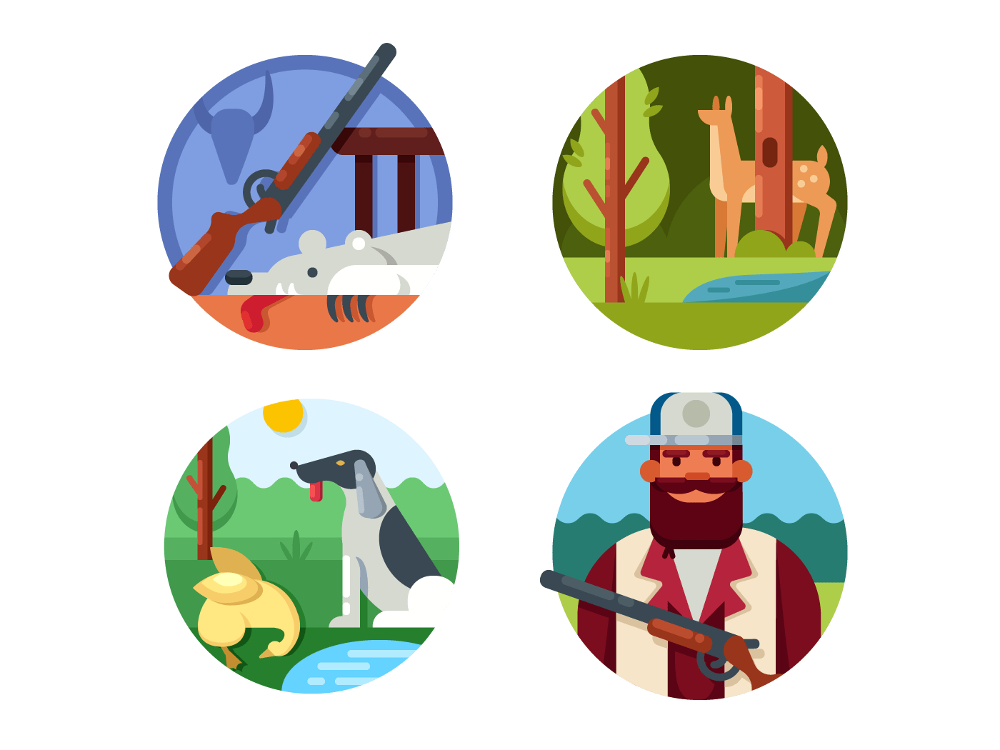 Hunting set icons