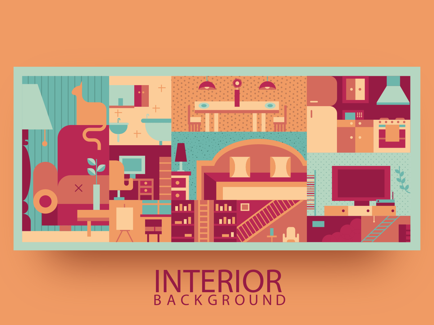 Interior abstract background