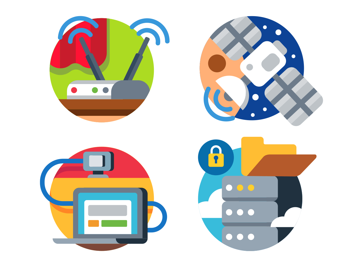 Internet technology icons
