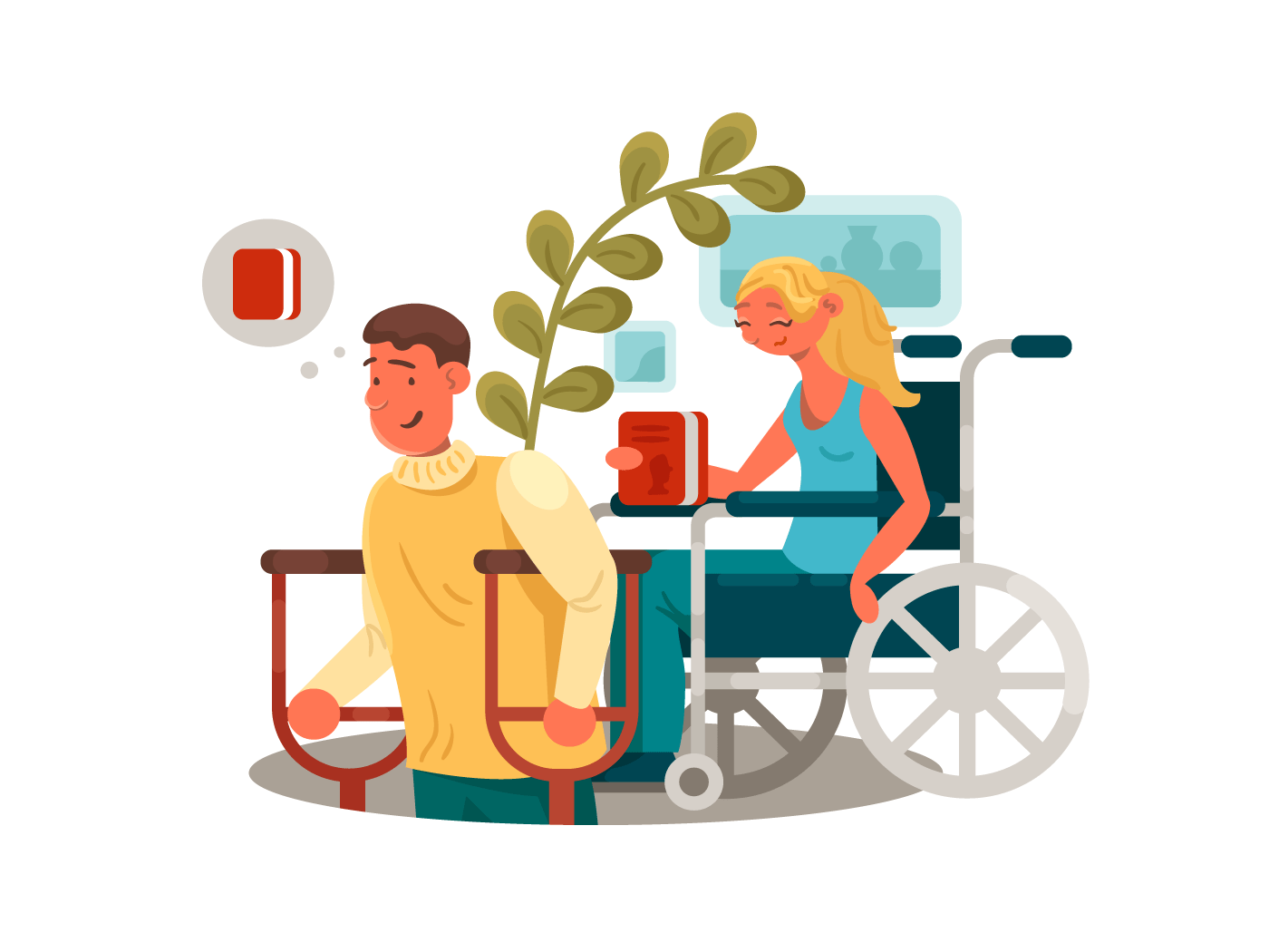 Persons with disabilities illustration