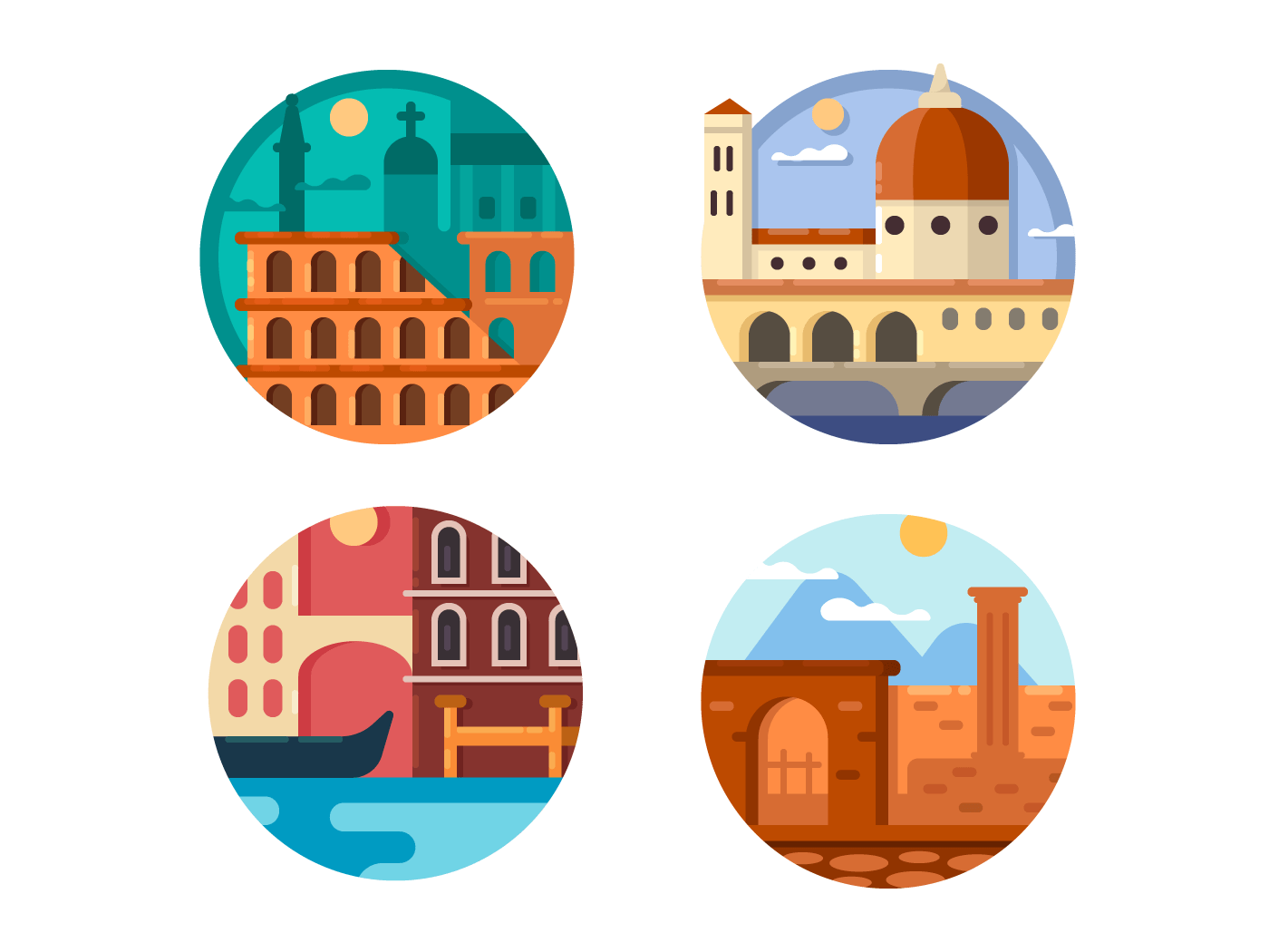 Rome and Venice icons