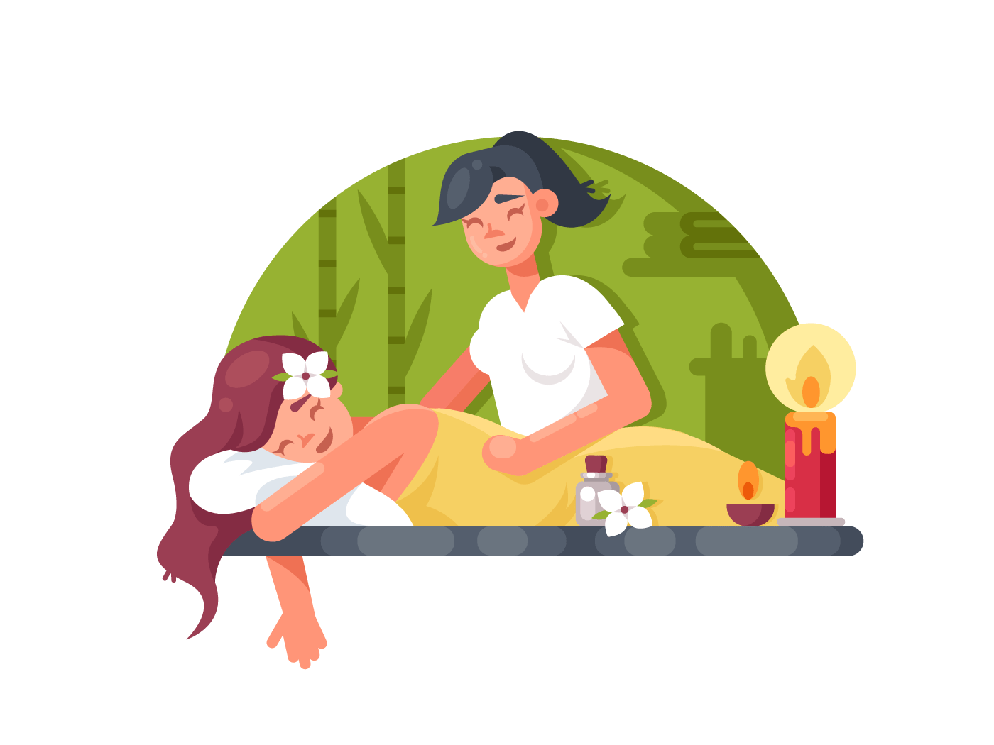 Massage room spa illustration