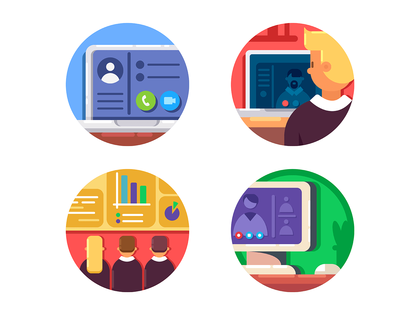 Meeting or web conference icons