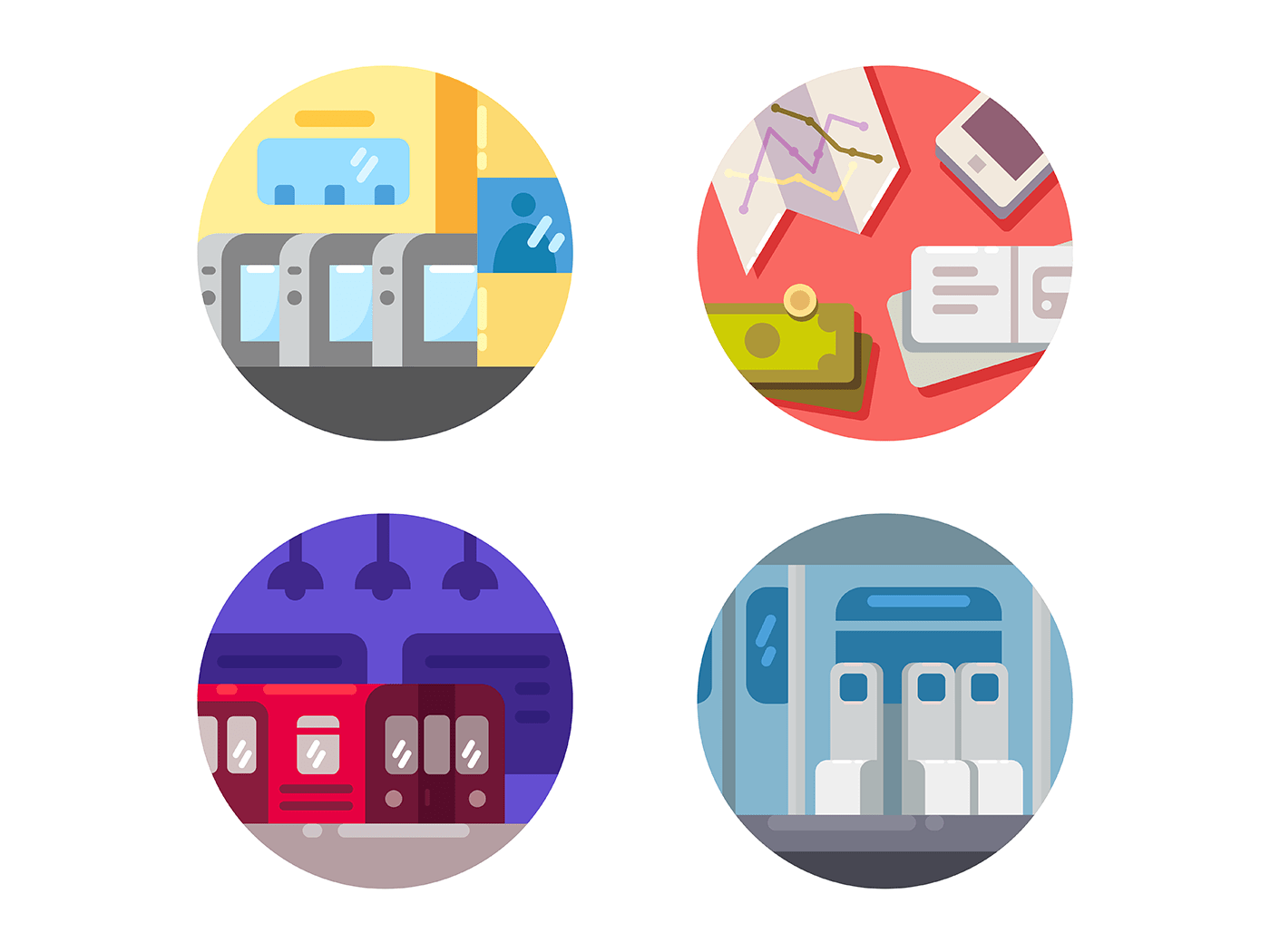 Subway icons