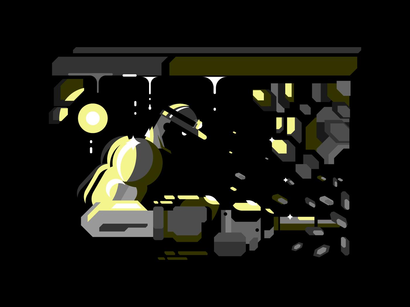 Miner character flat vector illustration