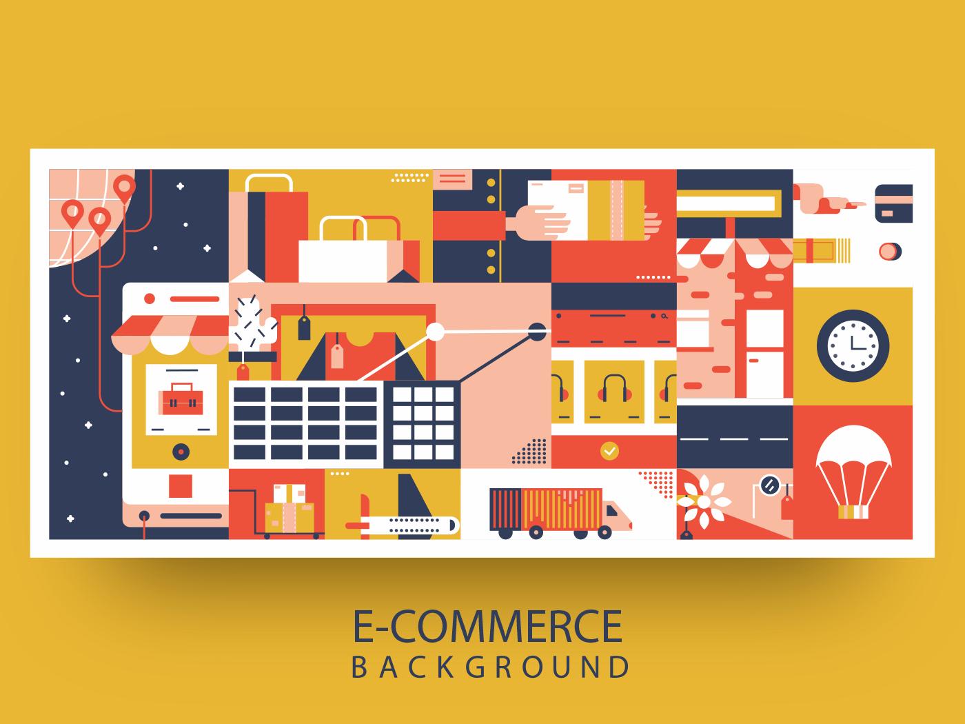 E-commerce online background