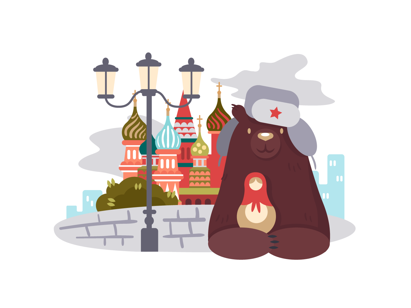 City of Moscow illustration