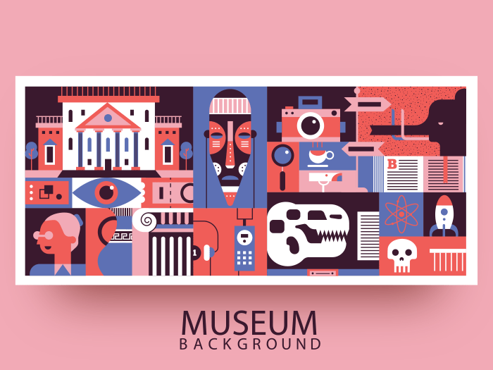 Museum abstract background