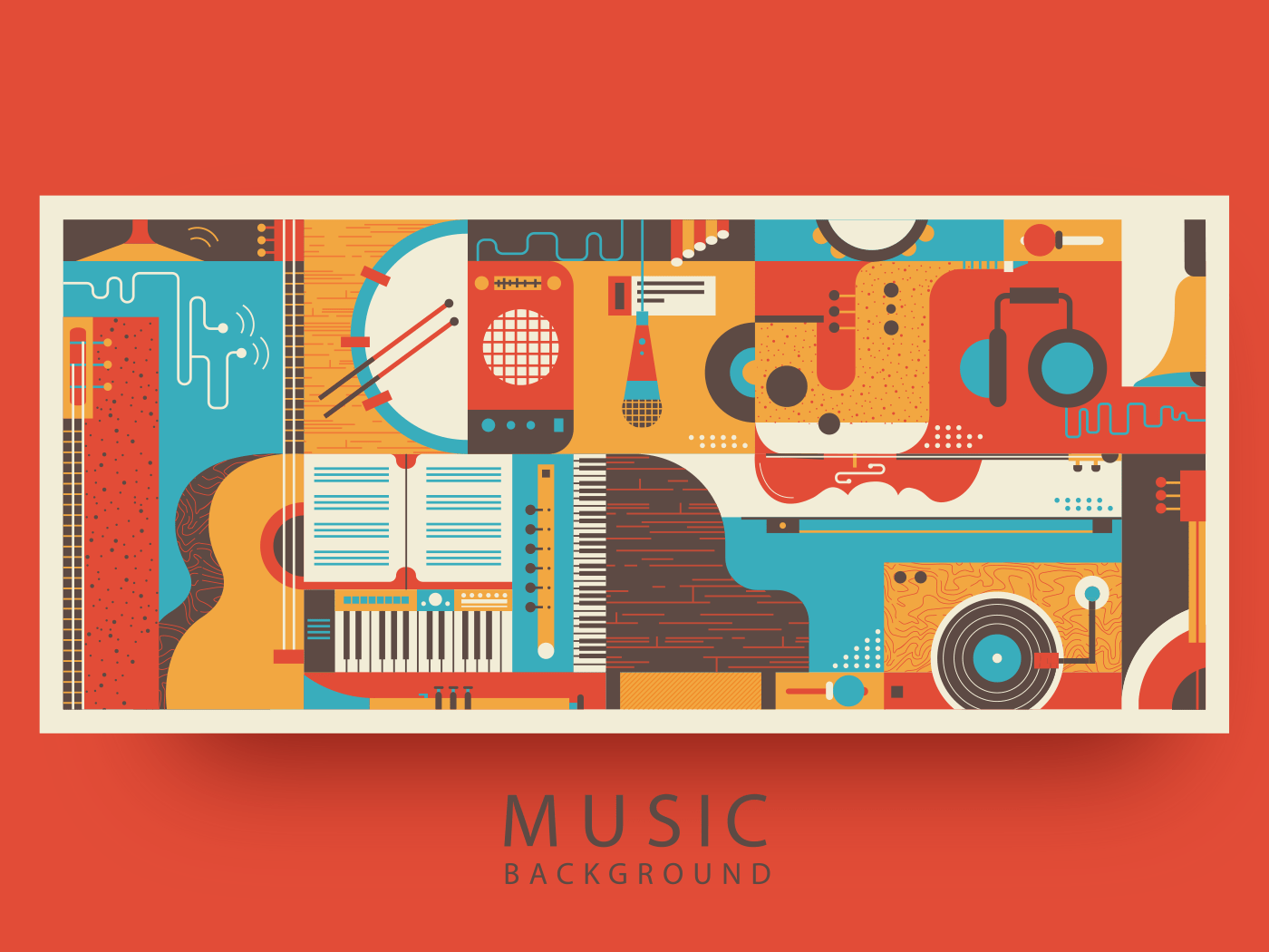 Music abstract background illustration