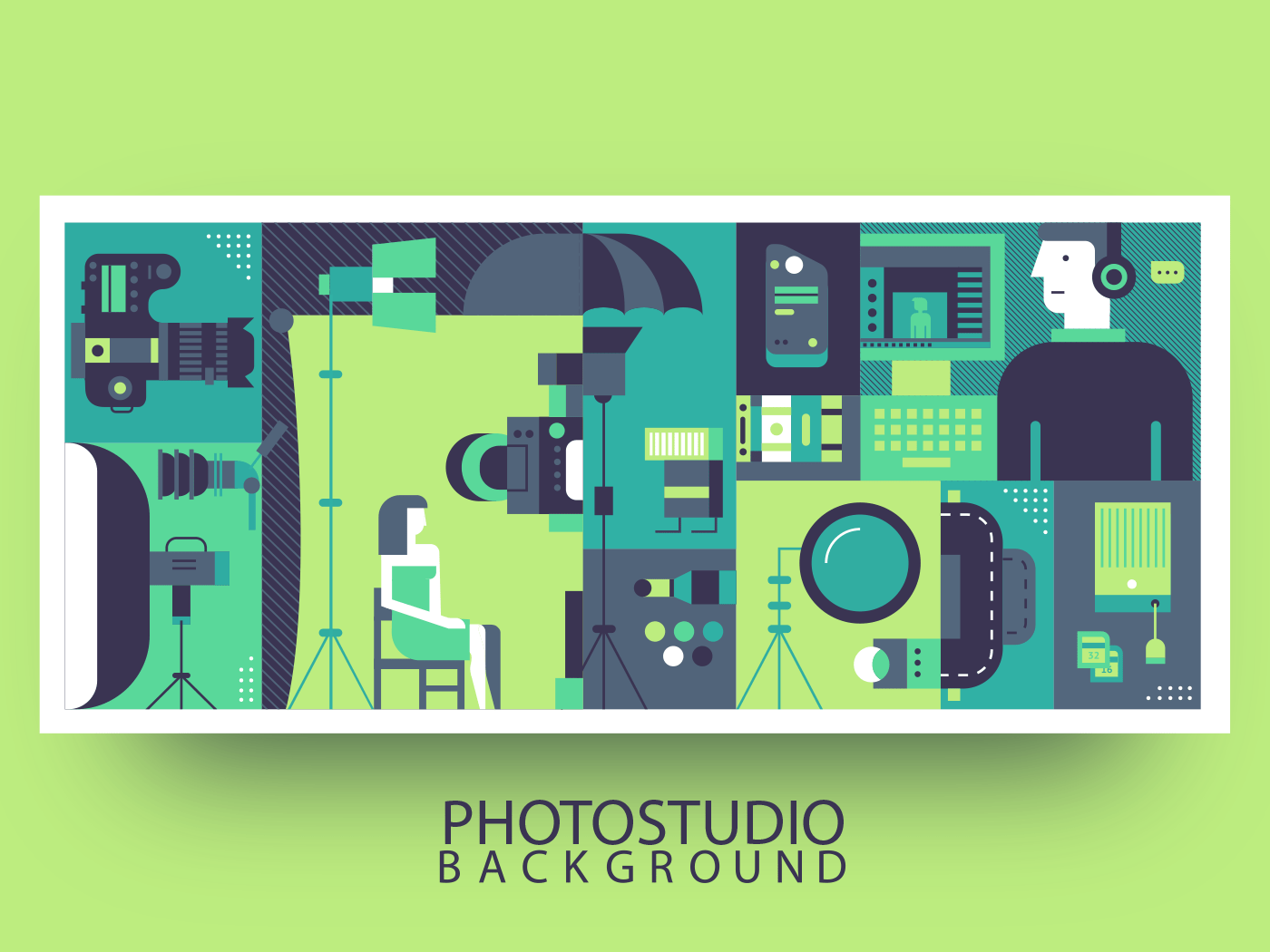 Photo studio production abstract background