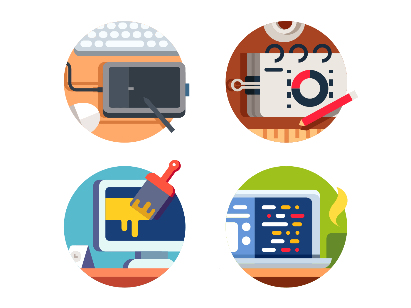Computer software design icons