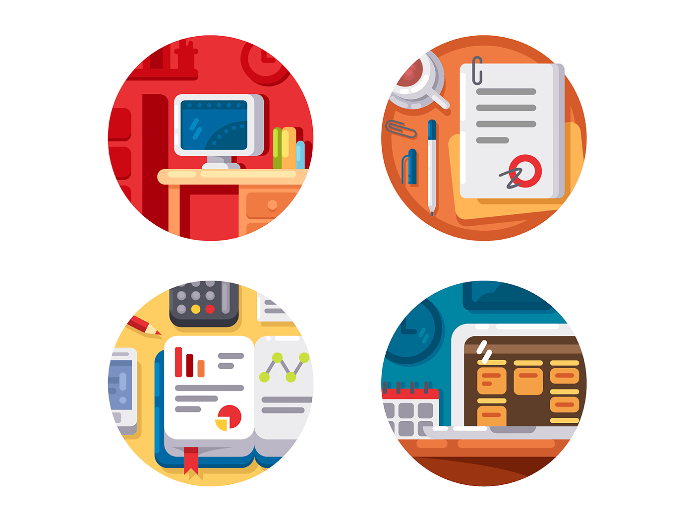 Creating business or creative project icons