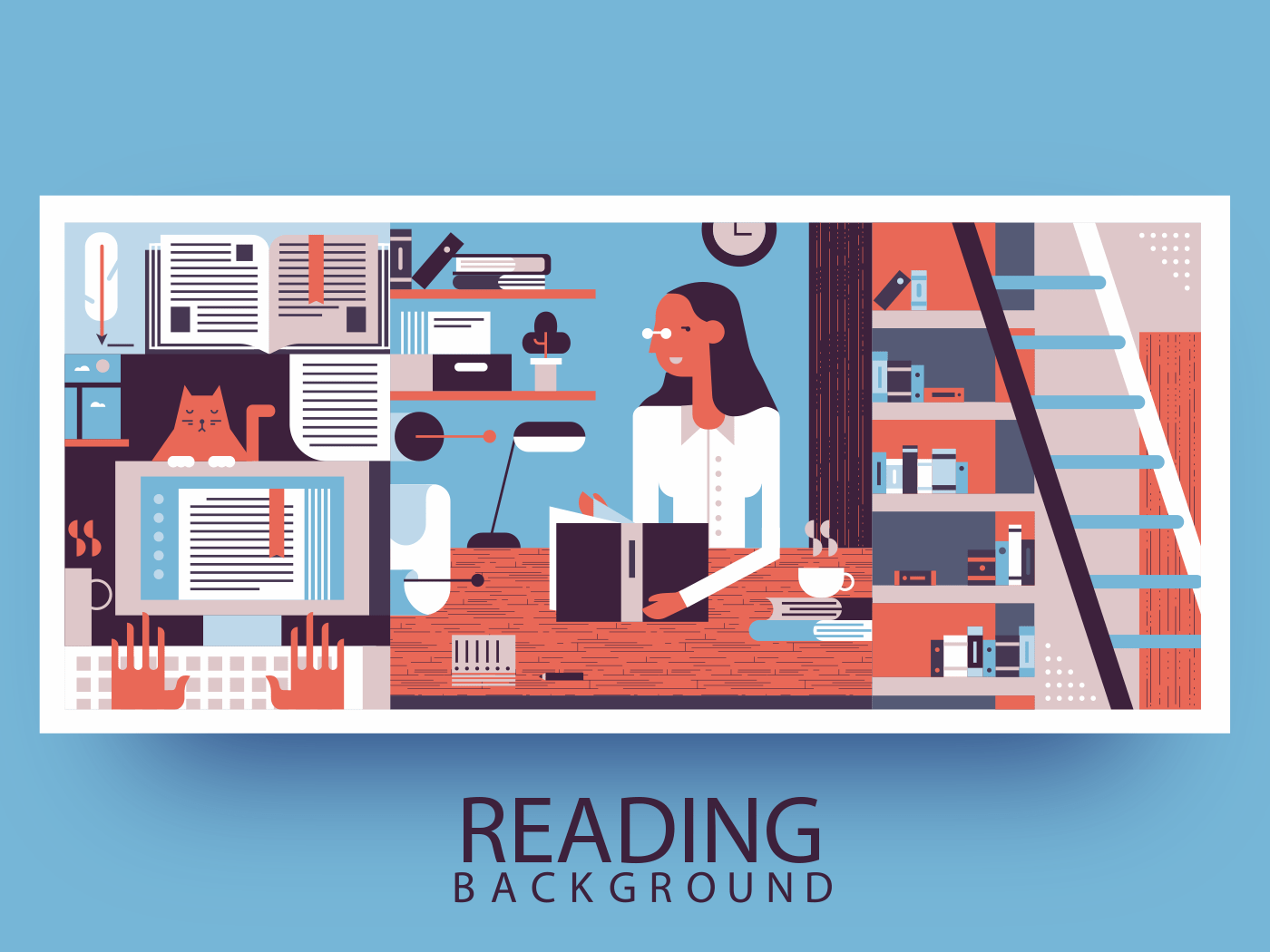 Reading abstract background