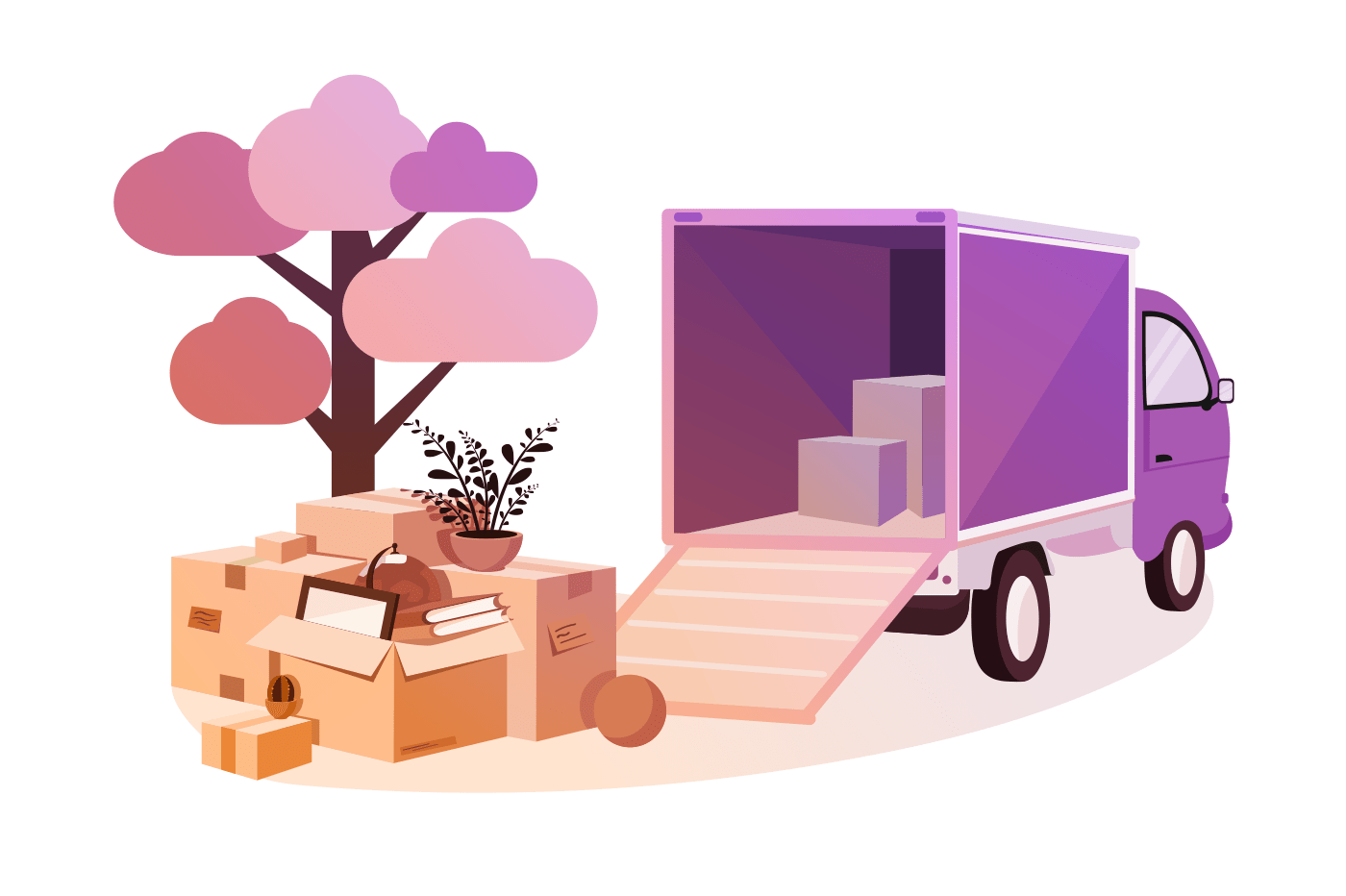 Transportation of things during move.