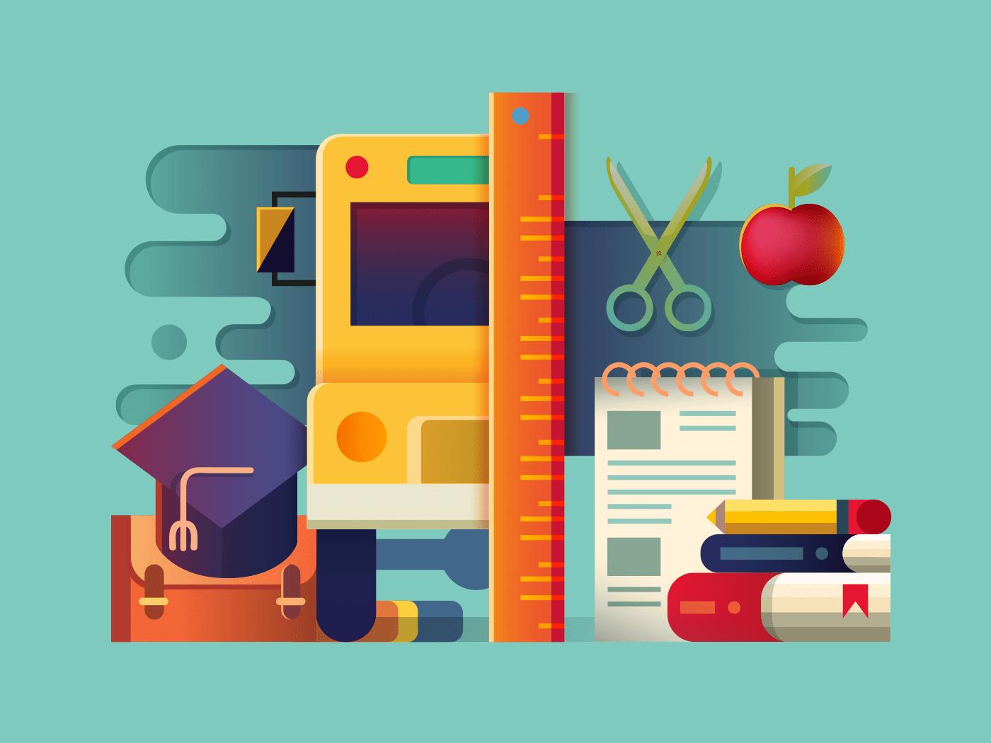 School item illustration