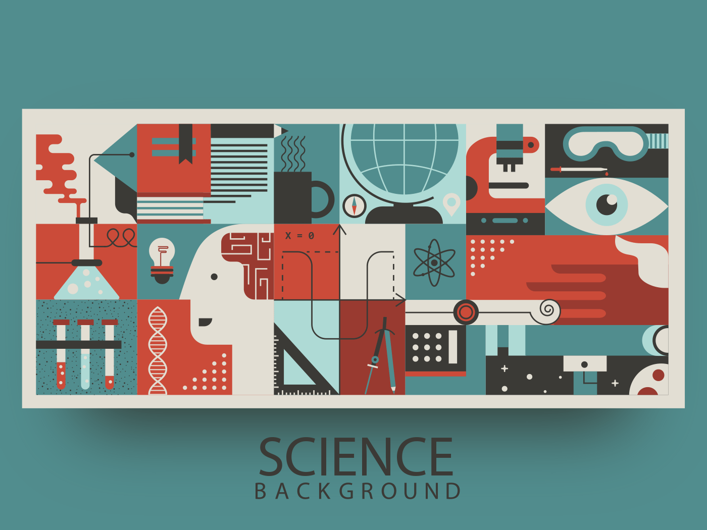 Science abstract background