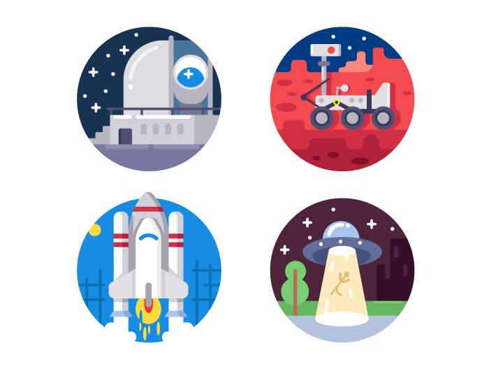 Pixel perfect space icons