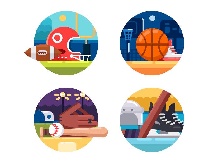 Popular sports icons
