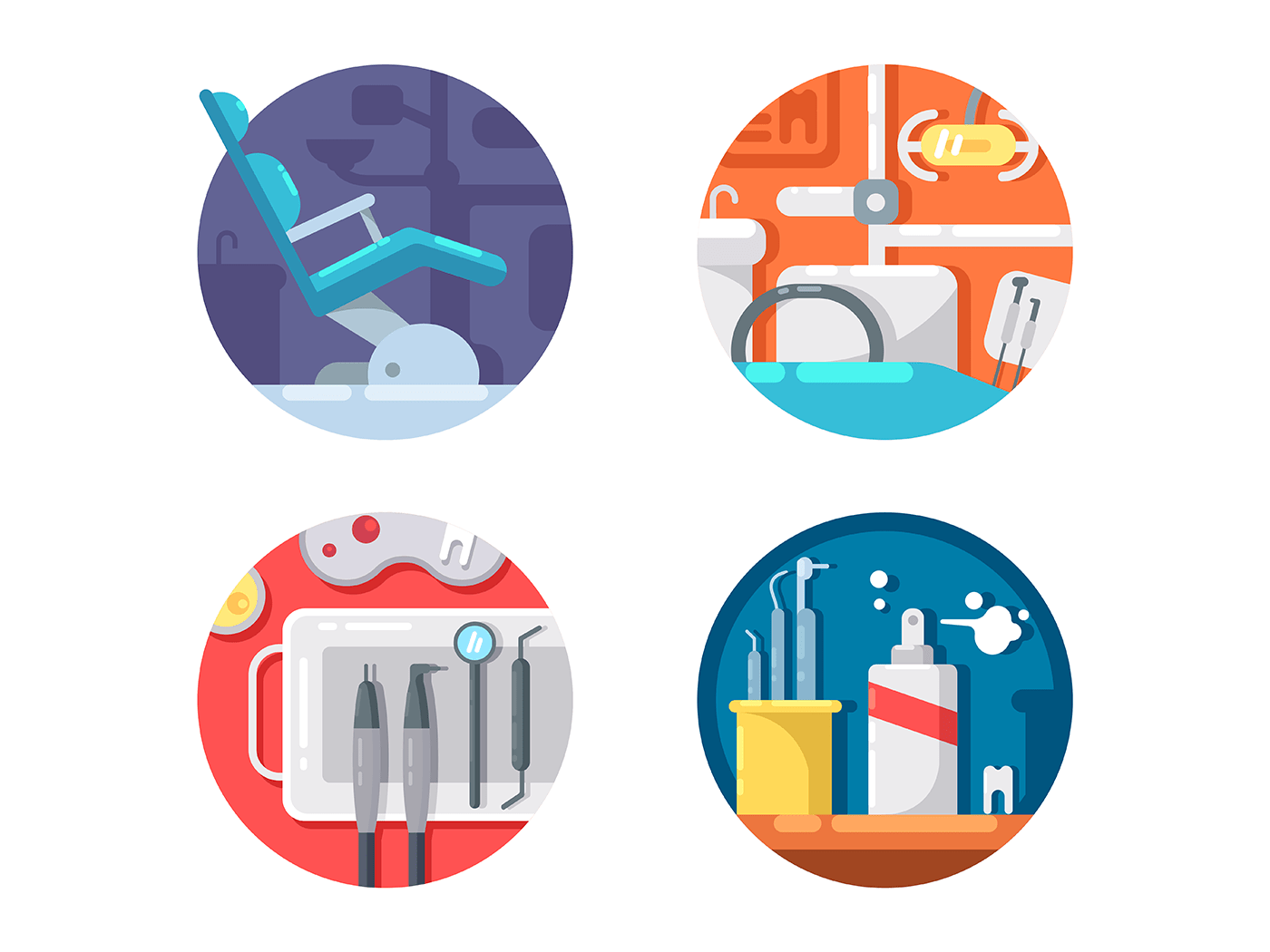 Dental clinic icons