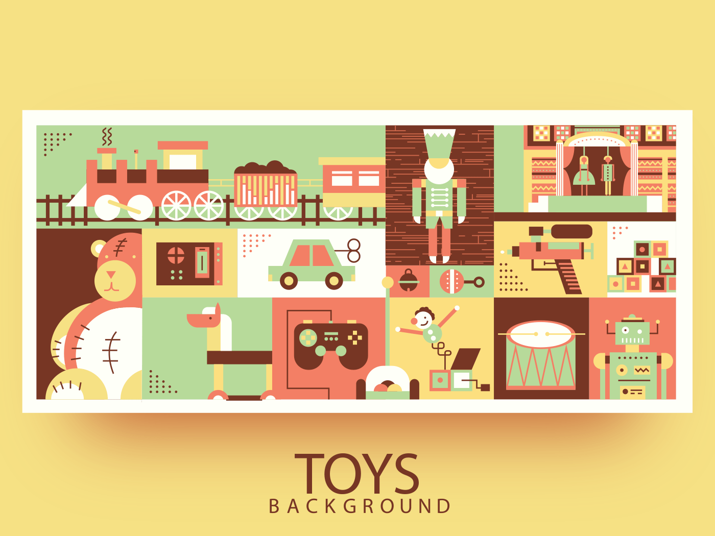 Children toys abstract background