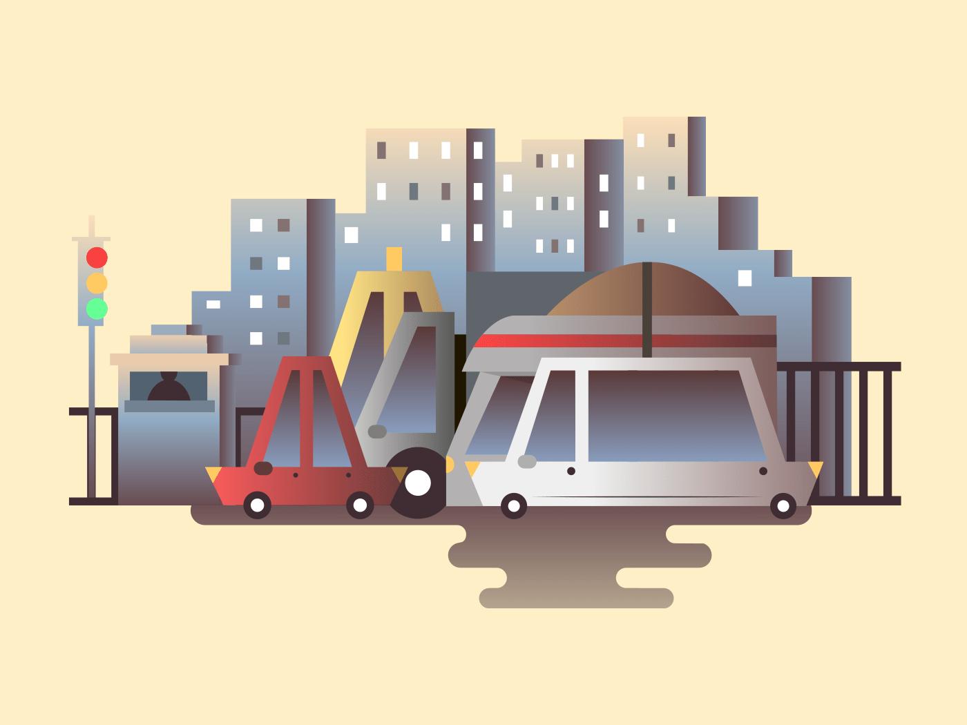 Road traffic illustration