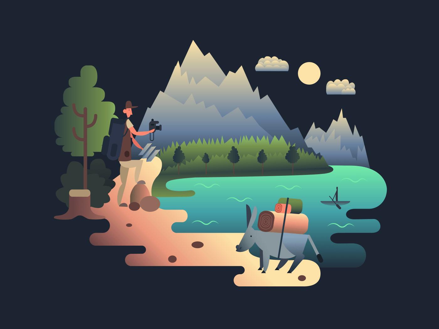 Traveller researcher illustration