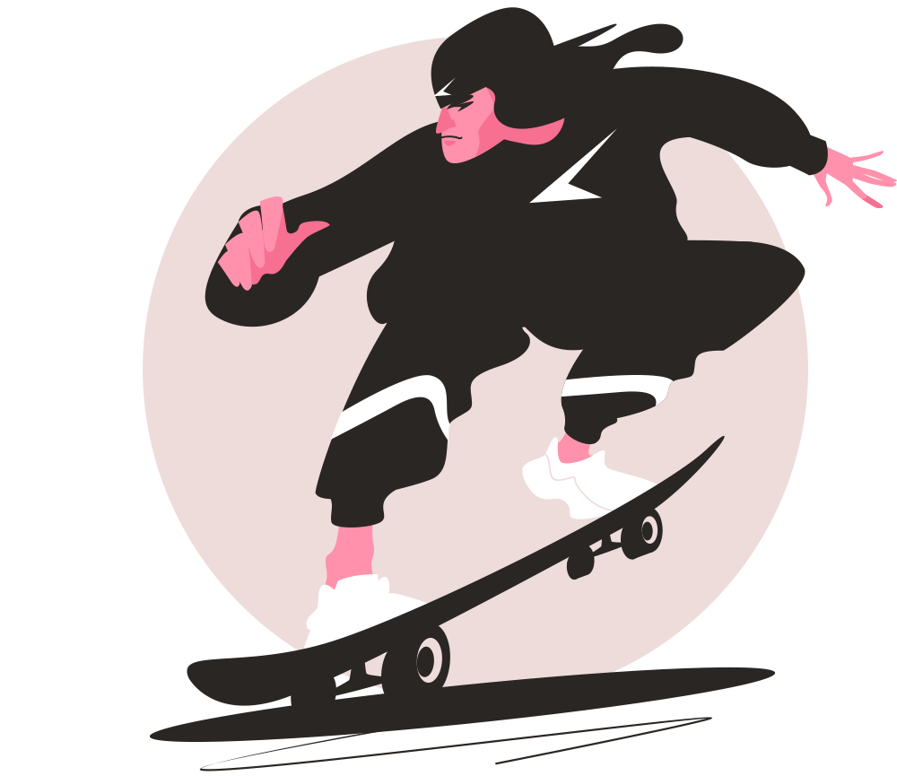 Urban illustration series Skater