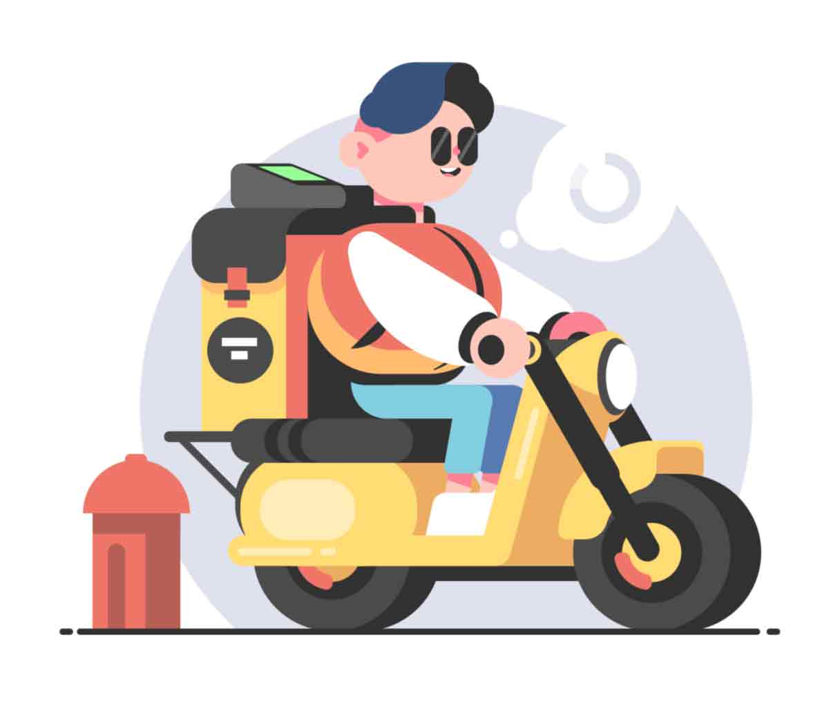 vector illustrations series made in classic flat style with sweet cartoon characters. Available exclusively on kit8.net