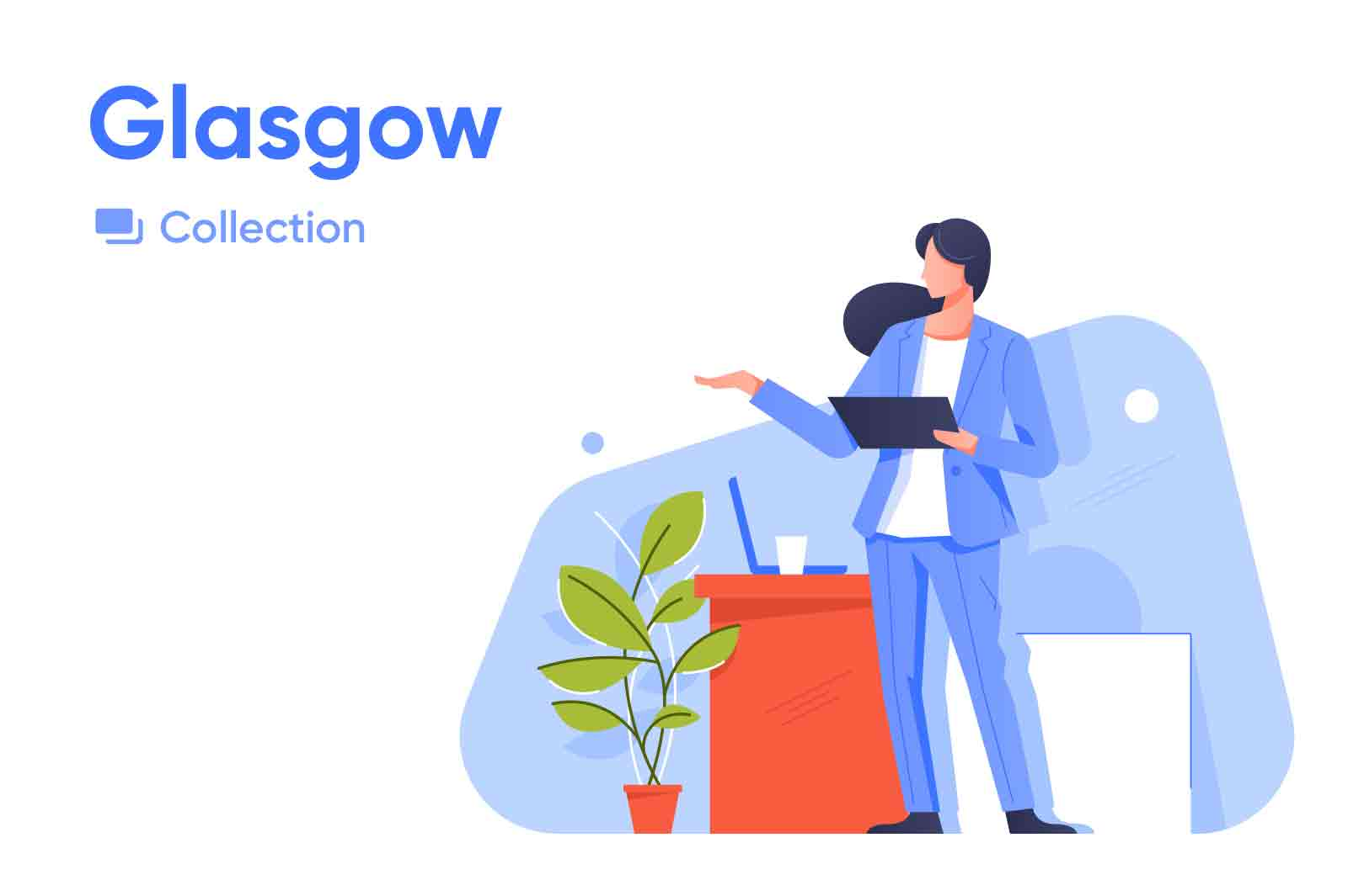 Glasgow vector illustrations series