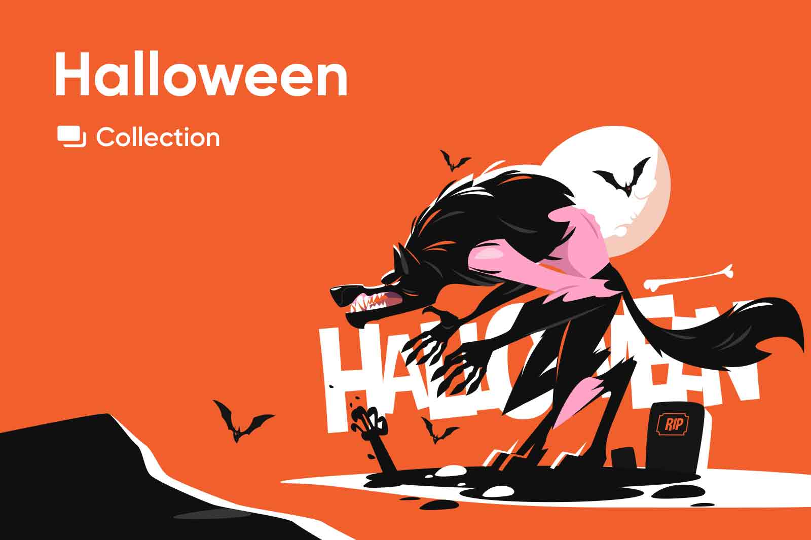 Halloween vector illustration series.