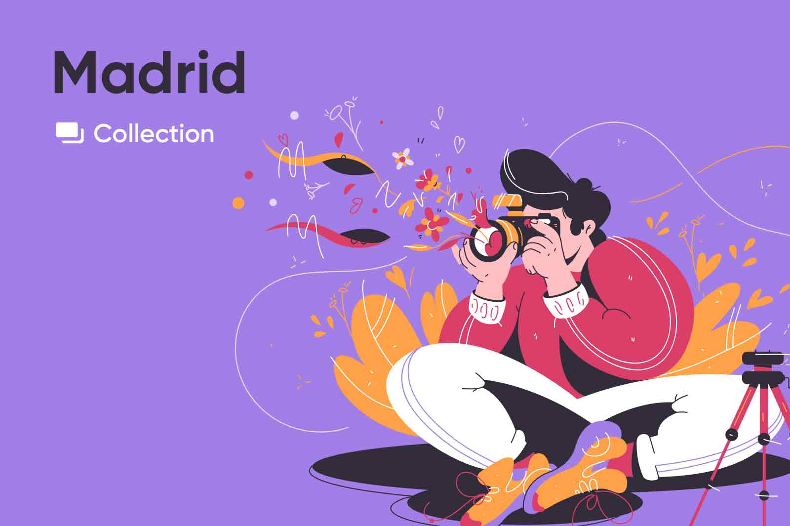 Flawless kinetic vector illustrations with kind and excited characters.