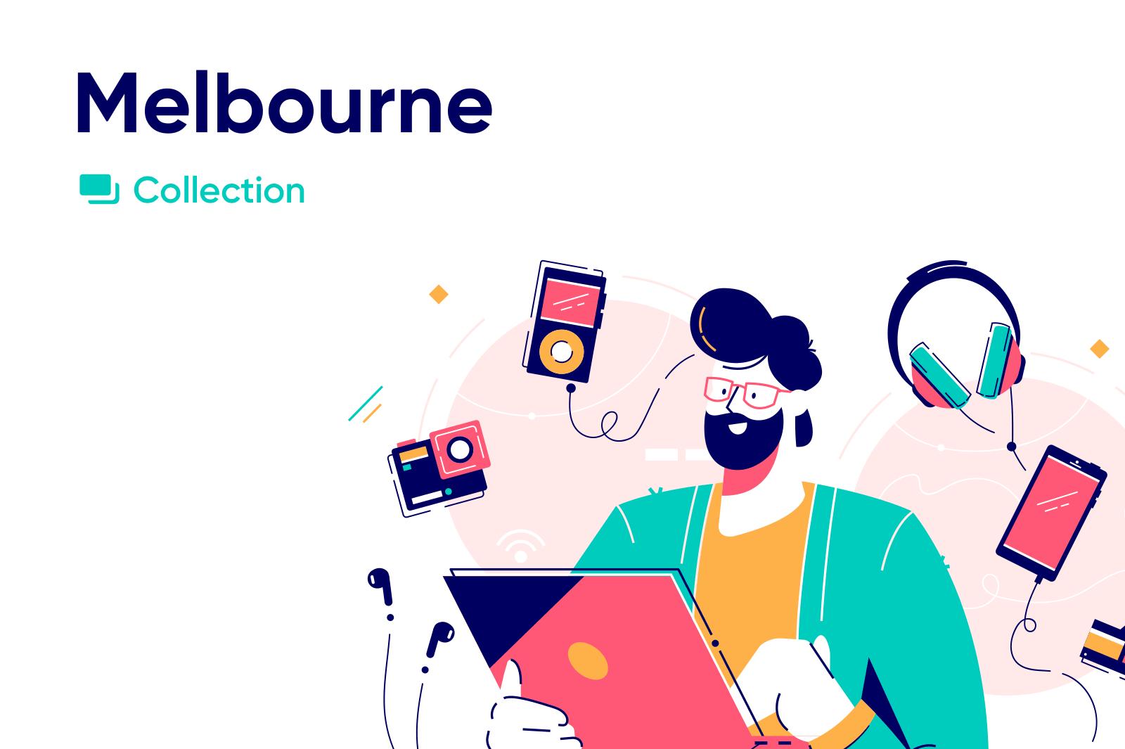 Melbourne vector illustrations series