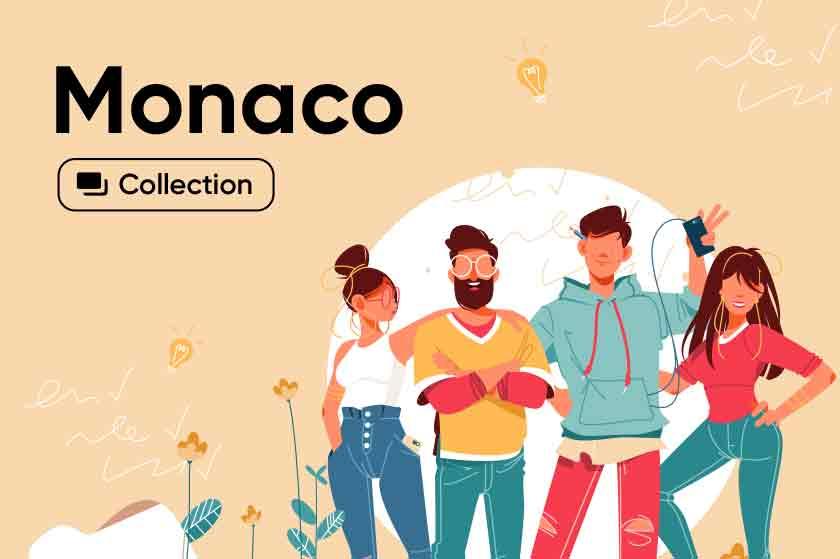 Monaco illustrations collection
