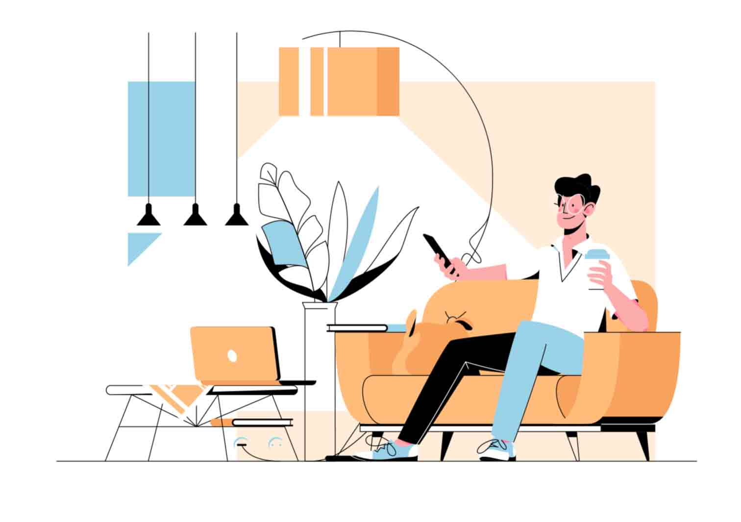Unique, light and charismatic series of vector illustrations with variety of character designs. Exclusively on kit8.net