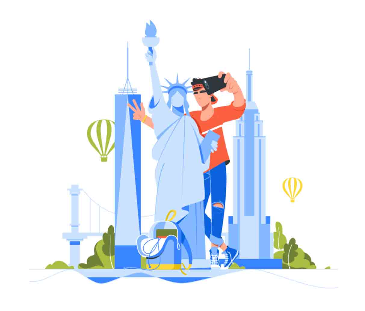 New York vector Illustrations Series