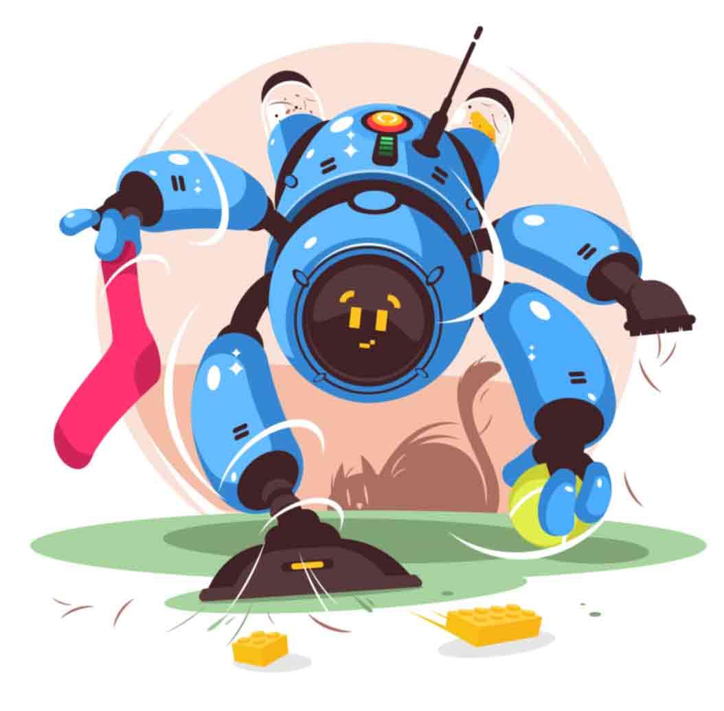 Robot helpers illustrations series