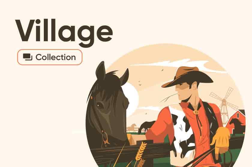 Village illustrations series
