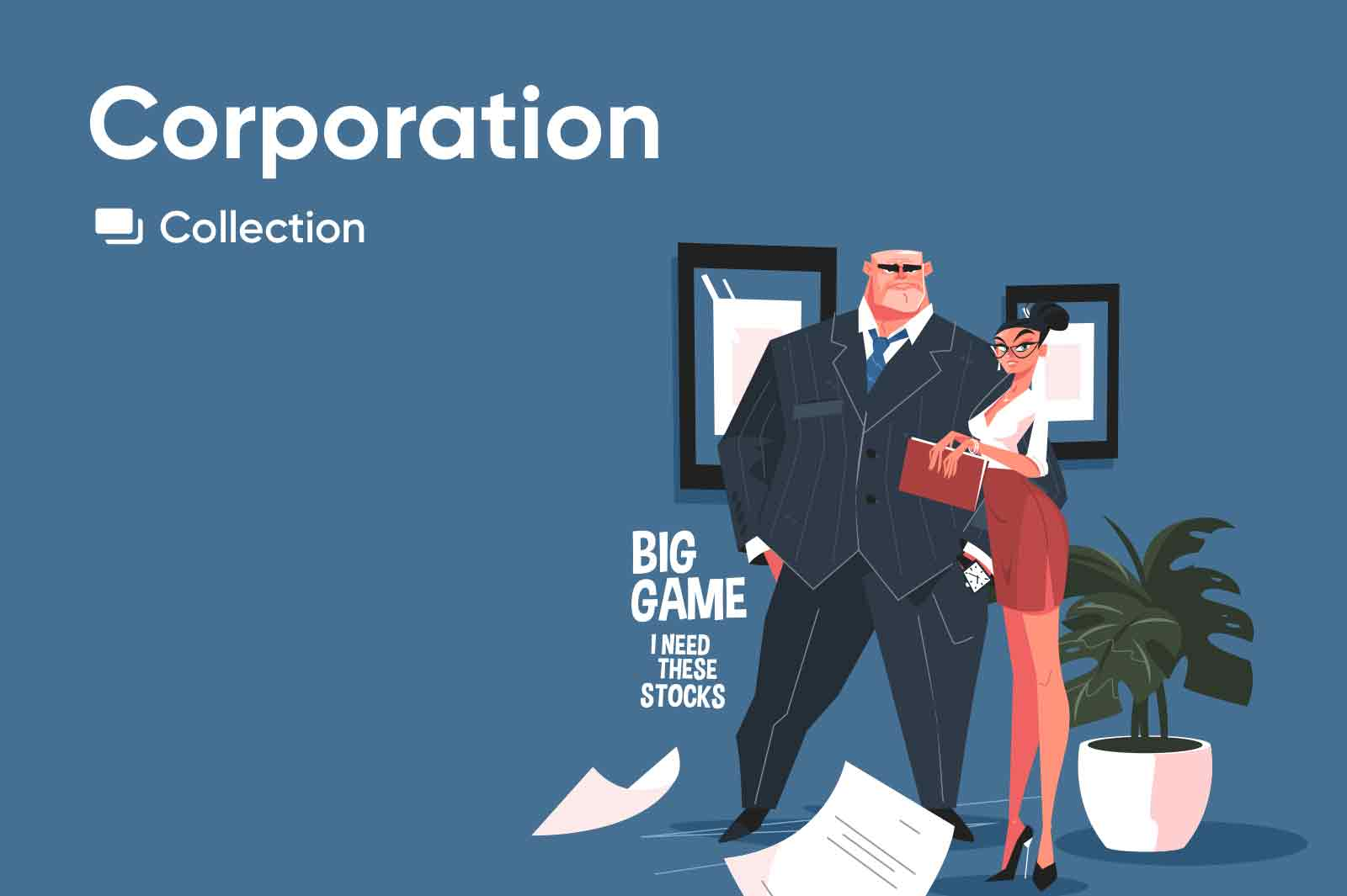 Charismatic character illustrations of various occupations.Businessman, secretary, cleaner, designer and more. Vector illustrations.